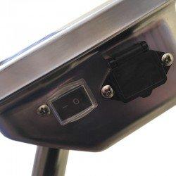 Interruptor y entrada de alimentación del visor de báscula