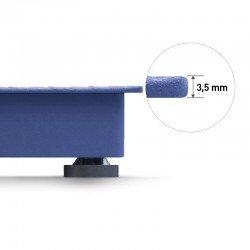 Plataforma de pesada de bajo perfil y robusta