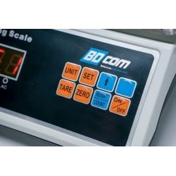 Detalle de la botonera de la balanza estanca Bdcom POD30K