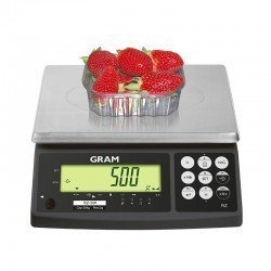 Muestra de peso balanza Gram RZ