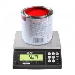 Muestra de peso balanza Gram RZ-15