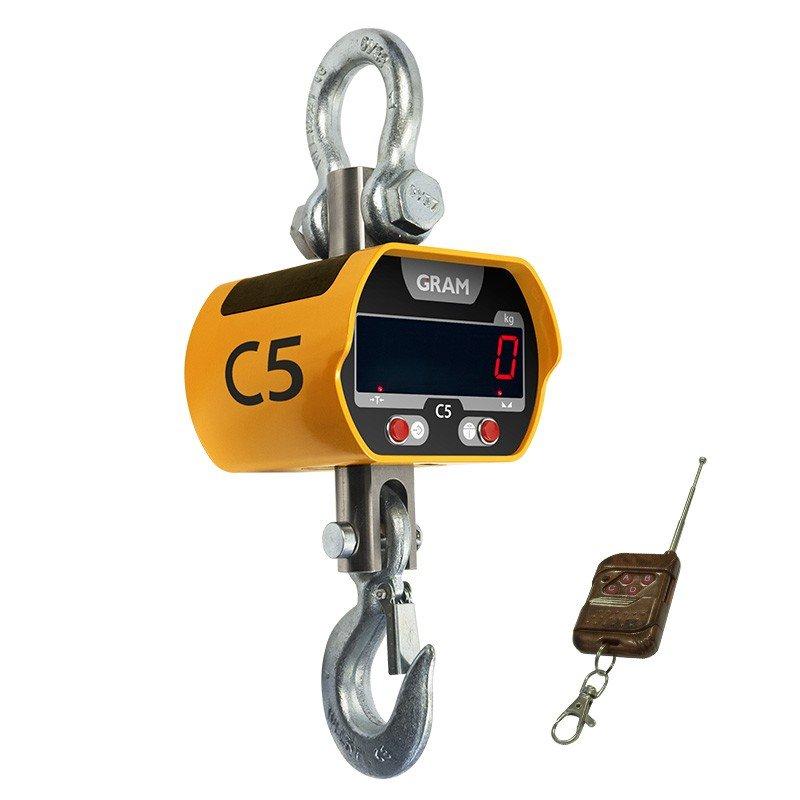 Gancho pesador 5 toneladas Gram C5 con mando a distancia para controlar las funciones