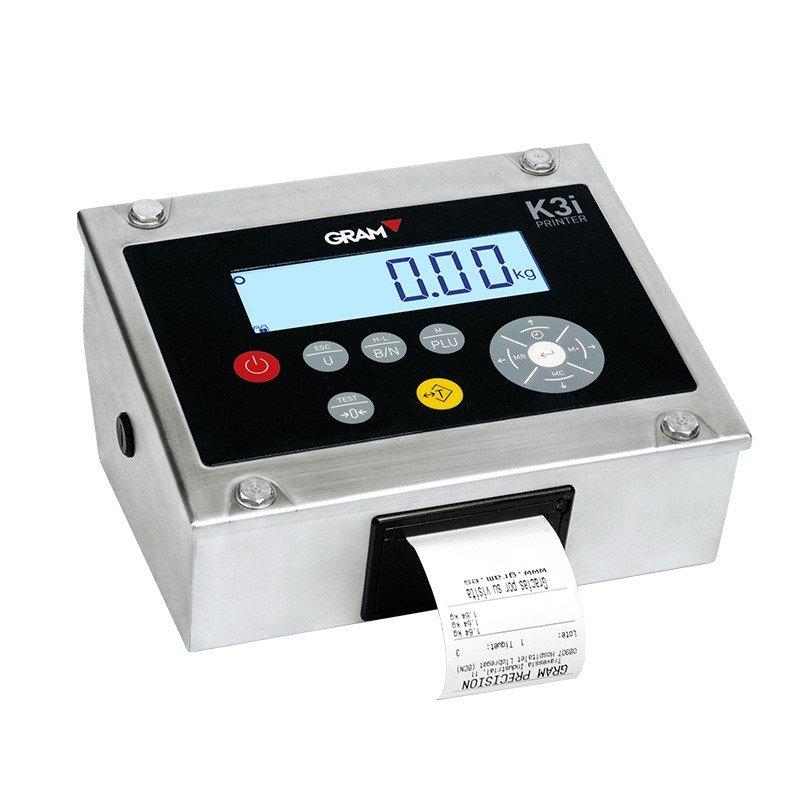 Indicador Gram K3i-printer con ticket.