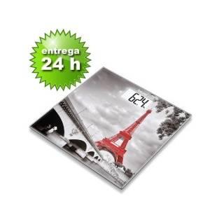 Báscula Cristal Pantalla LCD Diseño París